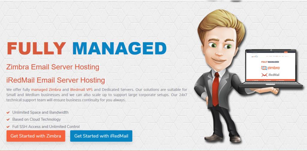 Fully Managed Zimbra Email Server Hosting  Fully Managed iRedmail Email Server Hosting